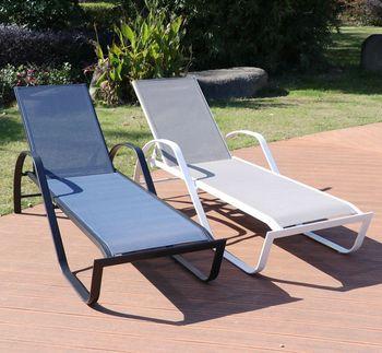 Outdoor Patio Furniture Swimming Sun Sunbed Pool Loungers Aluminium