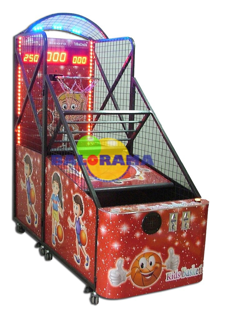 kids basketball game machine, electric basketball, token game basket machine