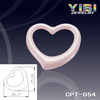 Elegant pink ceramic beads,Polished shiny heart shaped ceramic pendant,women ceramic jewelry