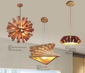 Wood lamp edison led ceiling pendant light chandelier for Wohnzimmerlampe decke