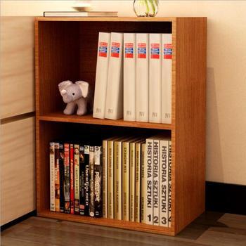 Wooden MDF Floor Mini Corner Portable Bookcase Kids Bookshelf