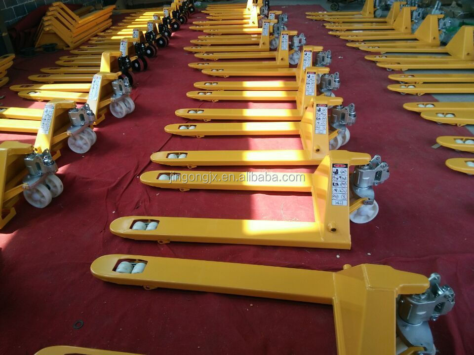 Provided hand pallet truck / hand forklift with best price for lifting goods