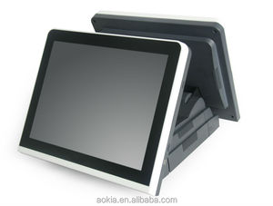 AK-615 Touch Screen POS System with LCD customer display POS terminal supermarket billing machine