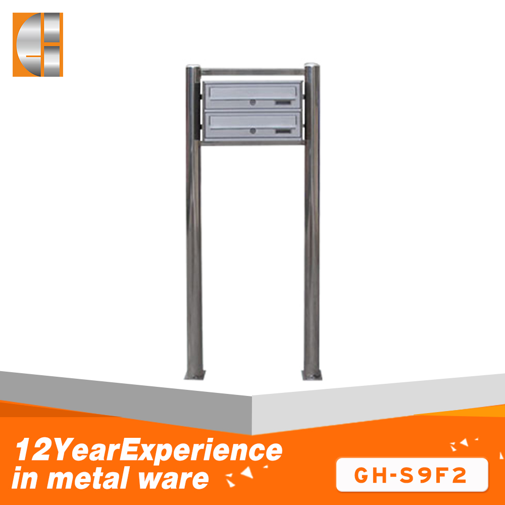 Wholesale metal standing mailbox and newspaper holder