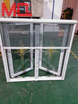 Upvc double glazing casement window for sale with steel for Window screens for sale