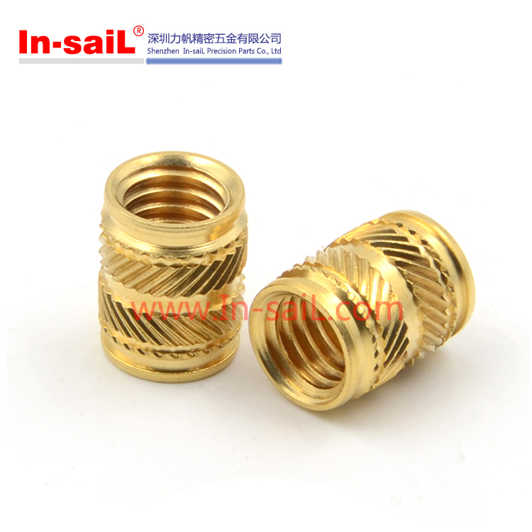 China Fastener Manufacturer RoHS Brass Knurled Threaded Insert Nuts for Plastic Box