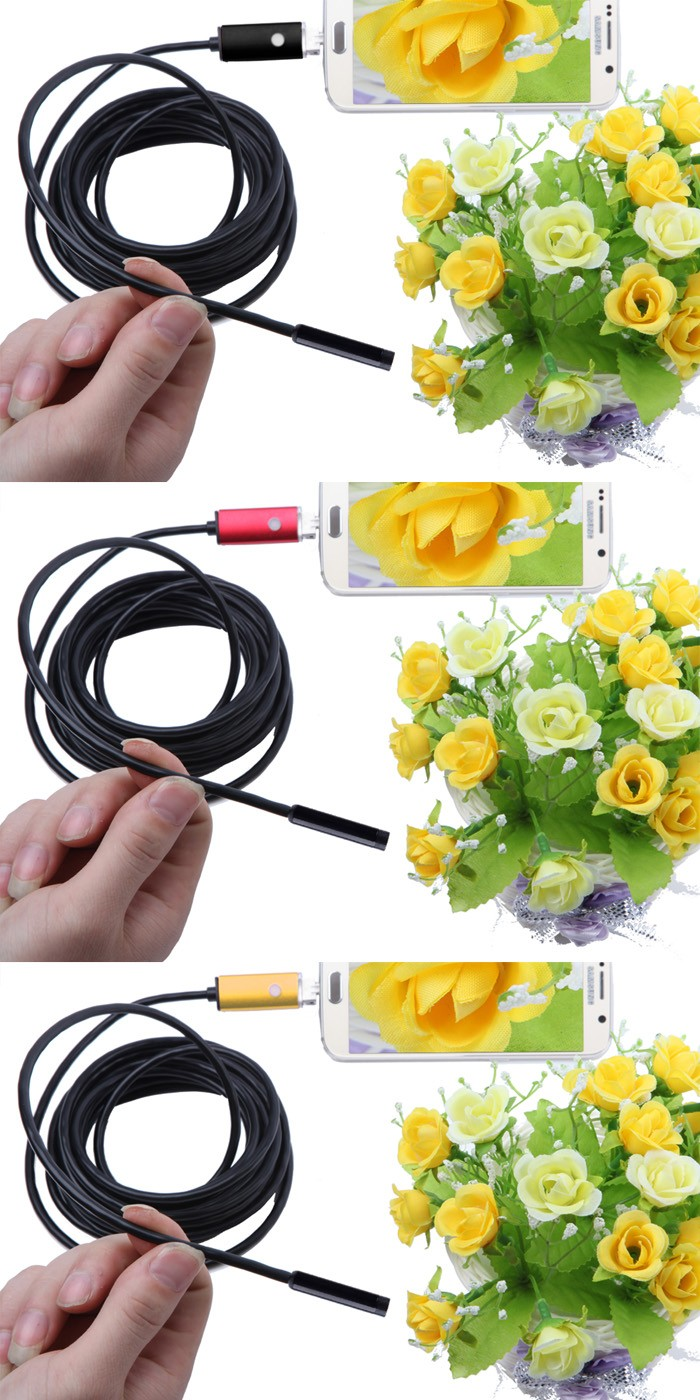 2018 Newest 2 IN1 Android and PC 2.0MP HD 720P Endoscope Borescope Inspection Wire Camera android mobile internet borescope usb