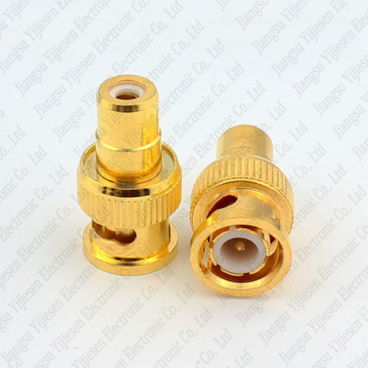 Gold Plated BNC Male Plug To RCA Female Jack Coax Cable Video Adapter CCTV Camera