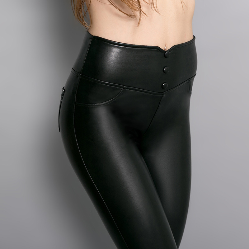 Factory Price Sexy Women Tight Genuine Leather sexy tight Pants