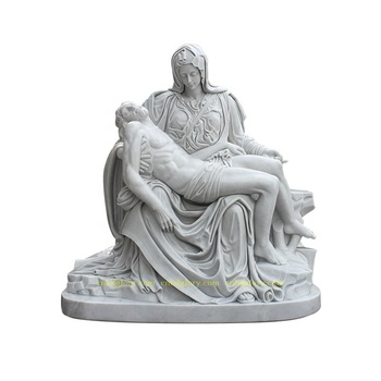 Best Selling Garden Decor Famous Marble Mourning Jesus Statue