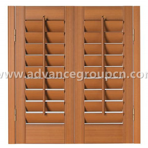 Manual operation sunproof wood carving shutters