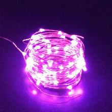 1/2/3/4/5/10 м светодиодная гирлянда на батарейках с питанием от USB Cooper Wire Fair Lights декоративная лента для вечеринки, свадьбы, Рождества(Китай)