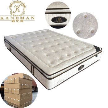 Sleepwell queen size 10inch luxury natural latex foam encased pocket spring mattress from china manufacturer