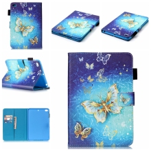 Printed Wallet flip leather case cover for iPad Mini 1 2 3 4, Stand PU case for iPad mini 2 3