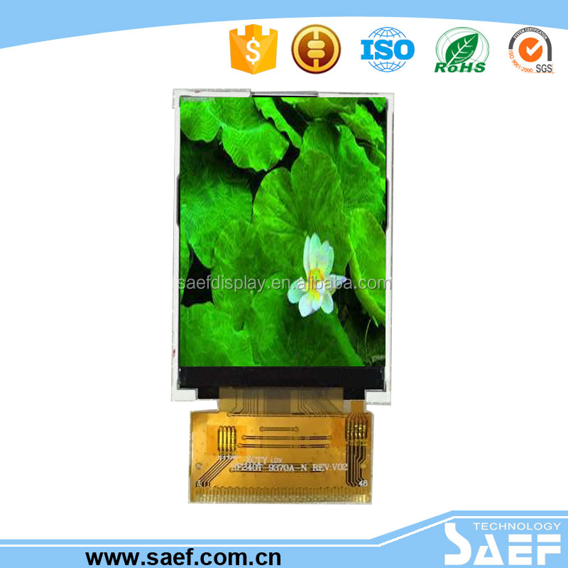 2.4 inch lcd screen QVGA 240x320 TFT/MPU interface /qvga 240* (RGB )*320/ILI9341/White LED Backlight for handheld equipment
