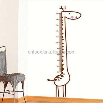 giraffe height chart wall sticker / height measurement wall stickers