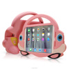 Factoty price kid silicone one handle with stand function car protective case ,tablet cover for ipad mini