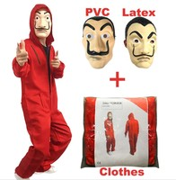 la casa de papel salvador costumes face pvc dali latex mask with Dali Clothes Costume