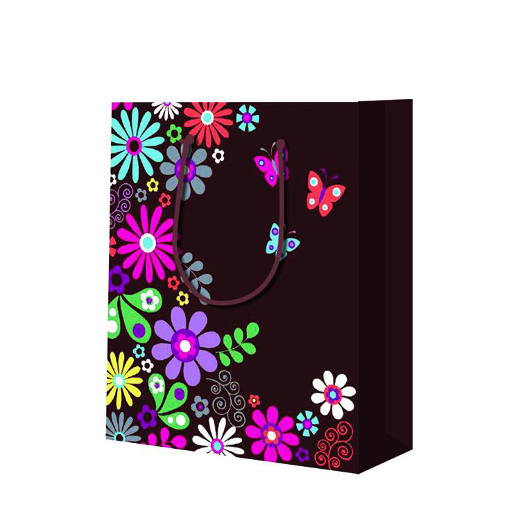 Premium Quality Wear Resistant Custom Reusable Printed Door Paper Gift Bags For Shopping