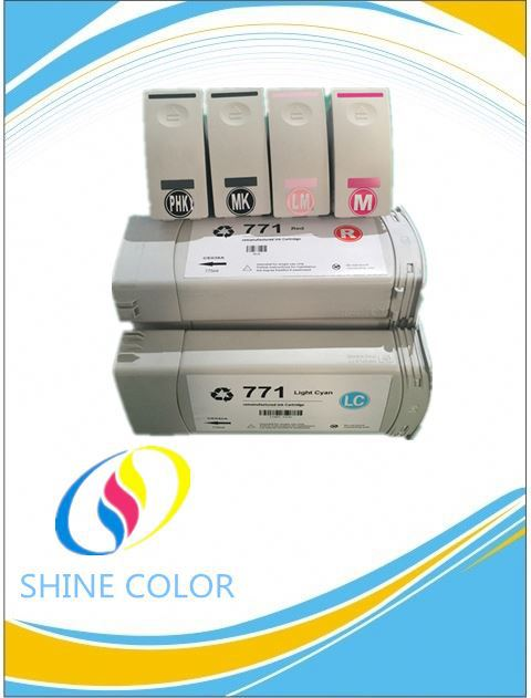 Remanufactured ink cartridge CE037A/CE038A/CE039A for HP Designjet Z6200 printer
