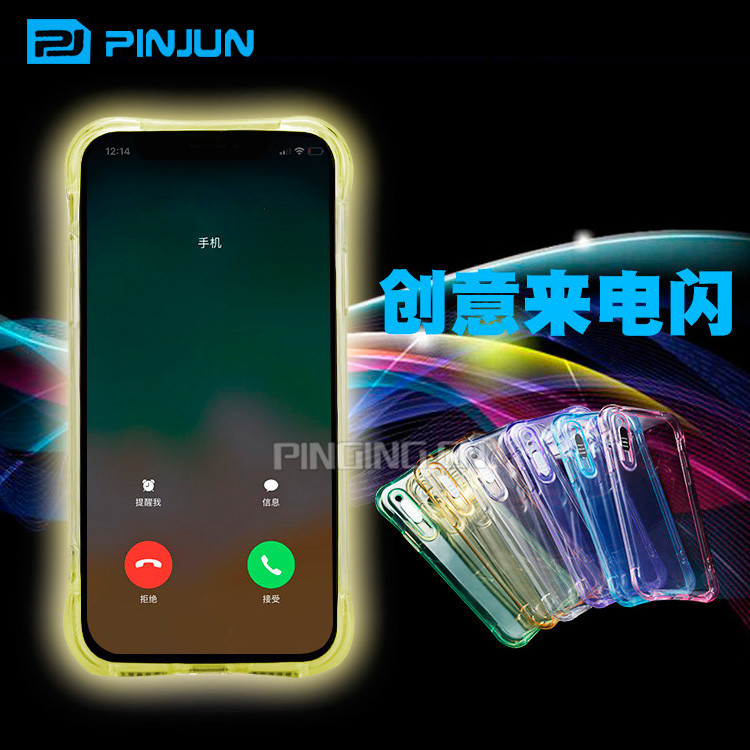 best service 019d1 9e1b4 Incoming Call Flashed Led Light Up Phone Cases For iPhone X 8 7 6s  Case,Crystal Clear Cover For iPhone7 iPhone8 iPhonex Case, View For iPhonex  Case, ...