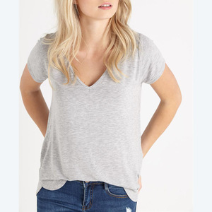 Loss fit oem service supply type blank round neck t shirt women promotional online shopping