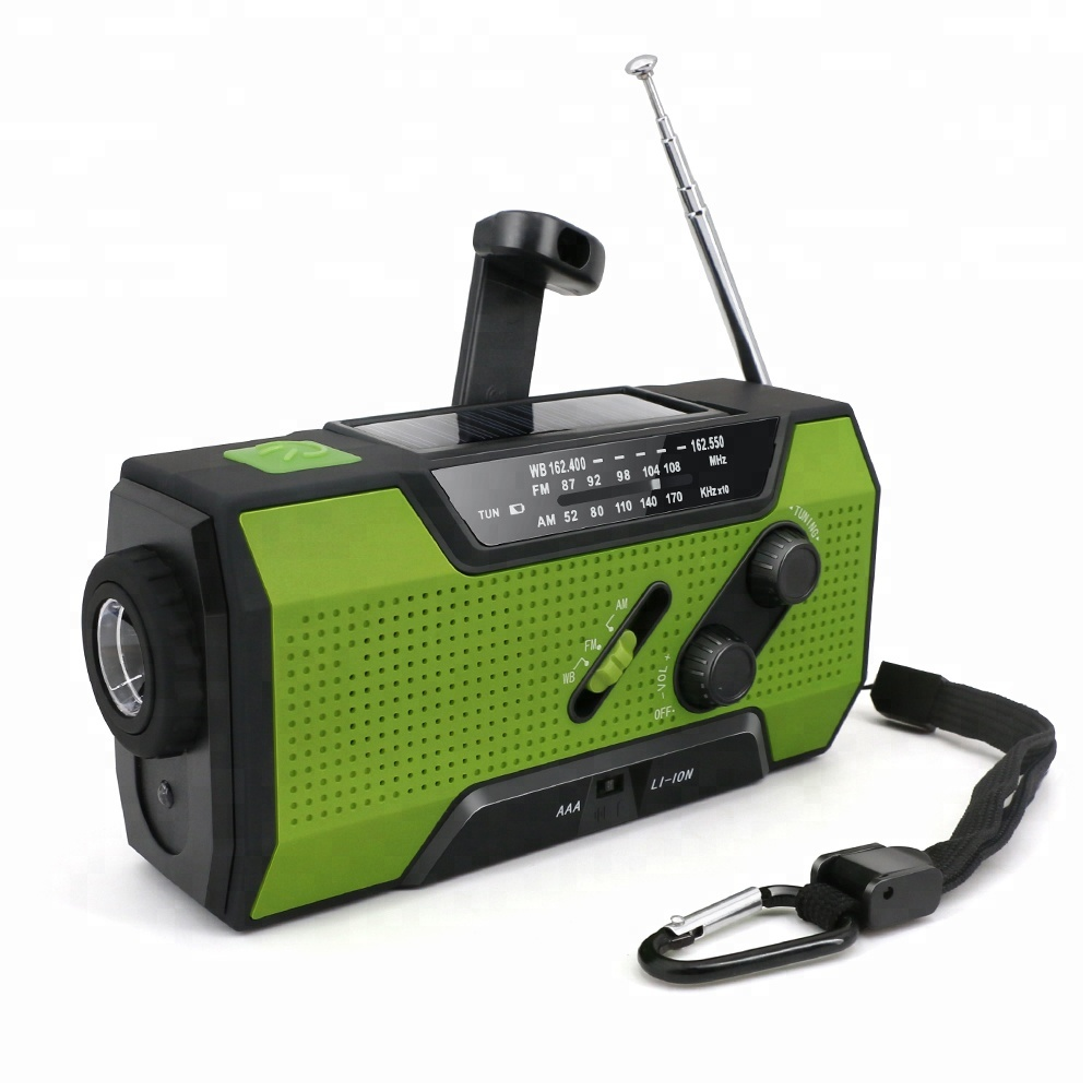 Solar hand crank radio vissen survival kit outdoor camping