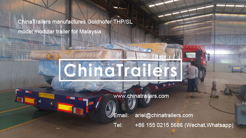 ChinaTrailers produced Goldhofer THP/SL Model Modular Trailer ordered by Lima