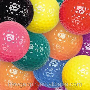 New gaopin promotion two layers colorful golf ball