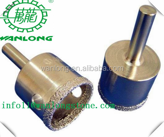 Wanlong Fast Cutting Diamond Vacuum Brazed Core Drill Bit for Marble Drilling