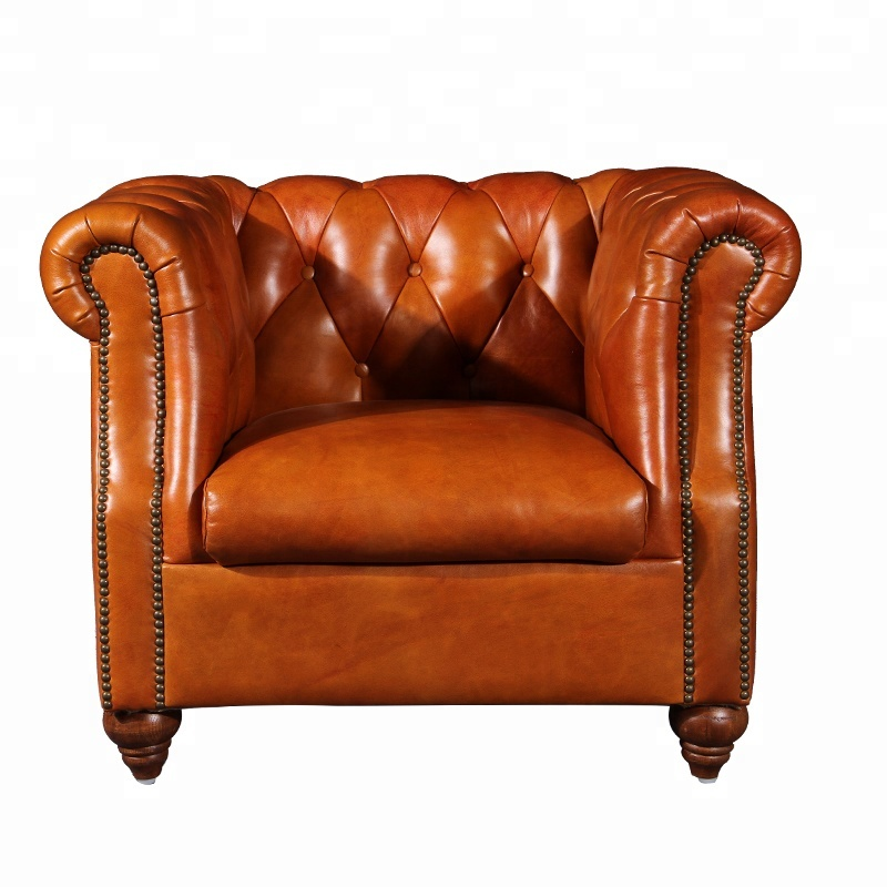 Surprising Living Room Armchair Genuine Leather Club Chair Chesterfield Sofa Chair Single For Hotel Room Buy Leather Club Chair Sofa Chair Single Living Room Spiritservingveterans Wood Chair Design Ideas Spiritservingveteransorg