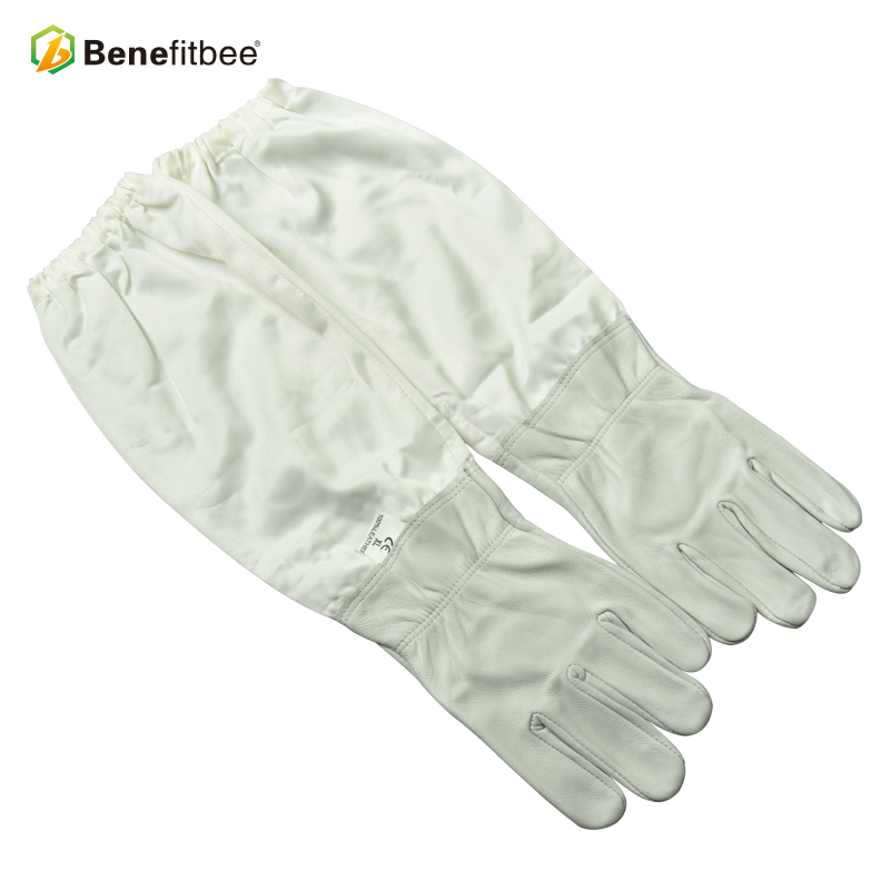 Benefitbee Soft And Comfortable Golden Sheepskin Bee Gloves Breathable Beekeeping Gloves
