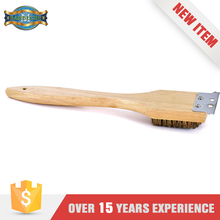 2016 New Products Hand Bbq Cleaning Tool Handle Wooden Brush