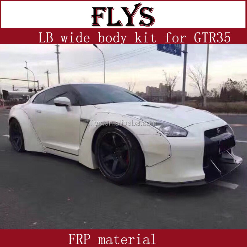 L/B performance wide body kit for NISAN GTR 35 SKYLINE racing car Frp material