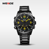 New arrival 2016 WEIDE Brand Sport Outdoor Waterproof luxury Different Colorful Watch Dial Stainless Steel Watch For Men