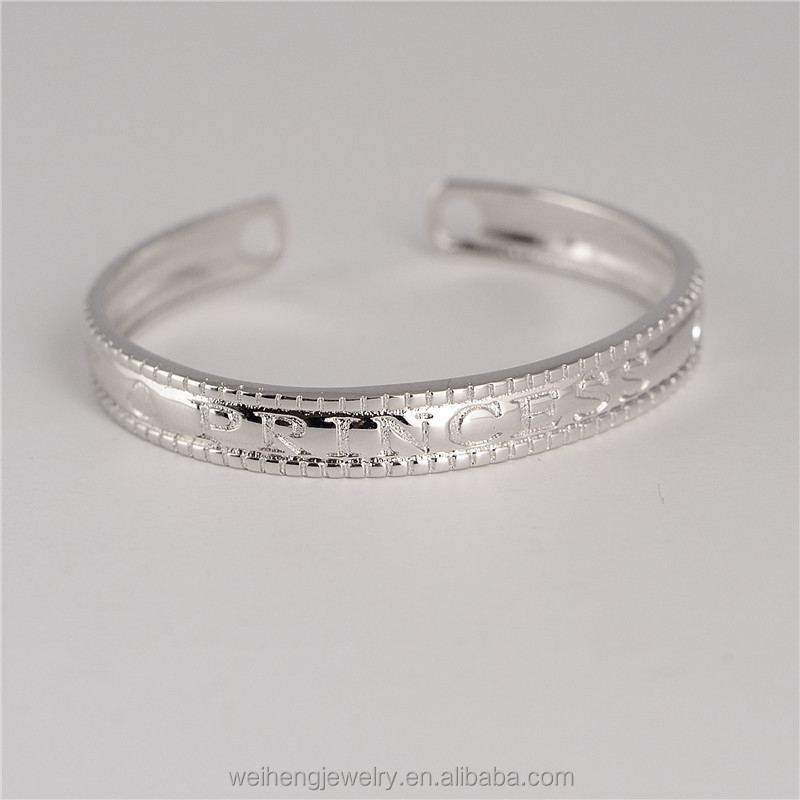 hot selling baby 925 sterling silver wholesale expandable 6 gram silver bangles designs
