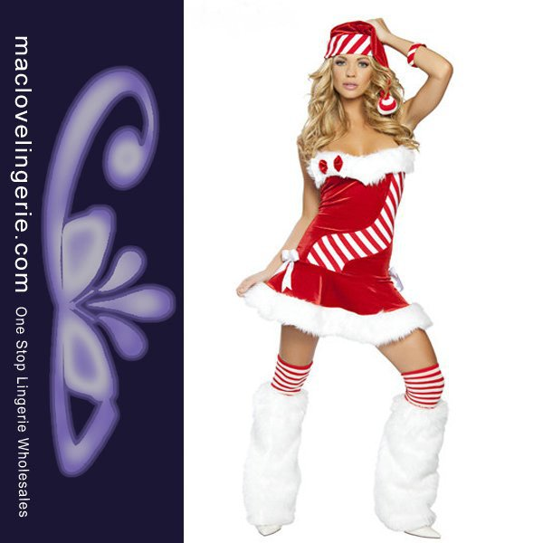 33d7127761b Get Quotations · ML8008 Free Shipping Strapless Red White Women New Year  Costume Fashion New Sexy Santa Costumes For