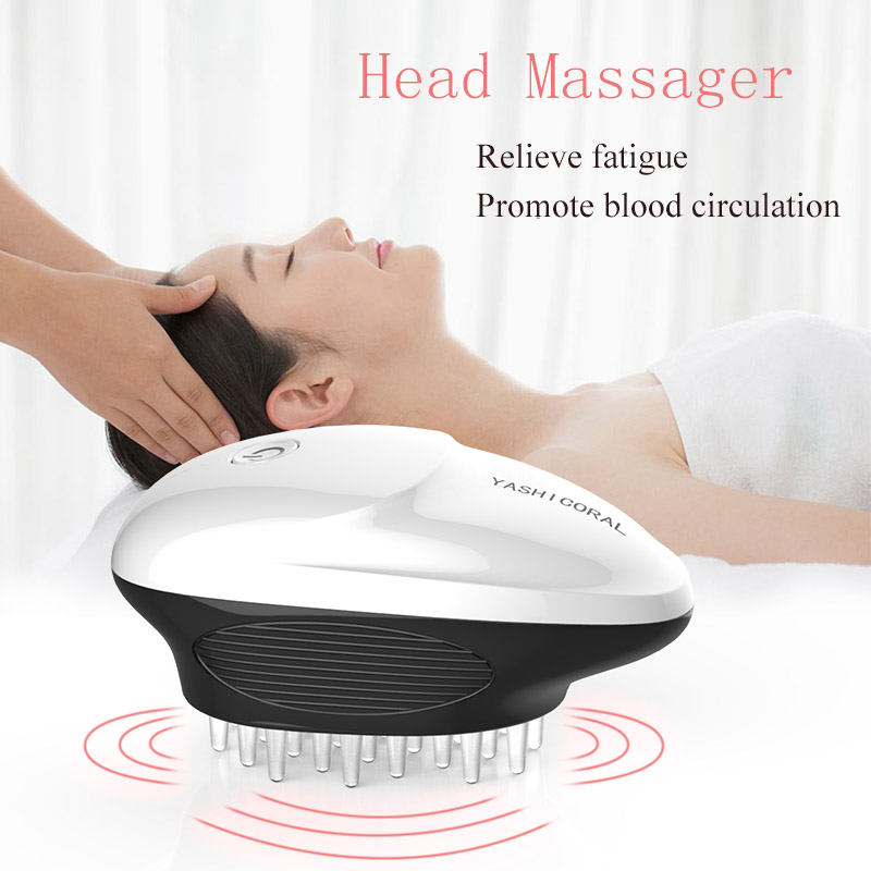 Portable Electric Handheld Massagers Vibrating Hair Brush Combs Automatic Scalp Head Blood Circulation Relaxing Head Massager