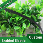 Wholesale Black Flat Thin Braided Elastic Band for Garments