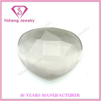 AAA quality white heart shape faceted cut cat eye gem stone