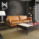 Modern Design Elegant Sofa Chesterfield simple leather Couch European Leather Living Room Sofa