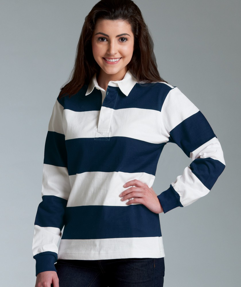 Unisex Heavy Cotton Blank Polo Style Classic Rugby Shirt 4