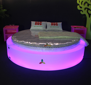 Hot sale LED Illuminated double bed 16 color changeable waterproof