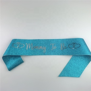 Pink and Blue Mommy To Be Sash Baby Shower Decoration