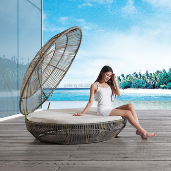 Rattan Canopy Bed Outdoor Furniture Guangzhou Shell Lounge