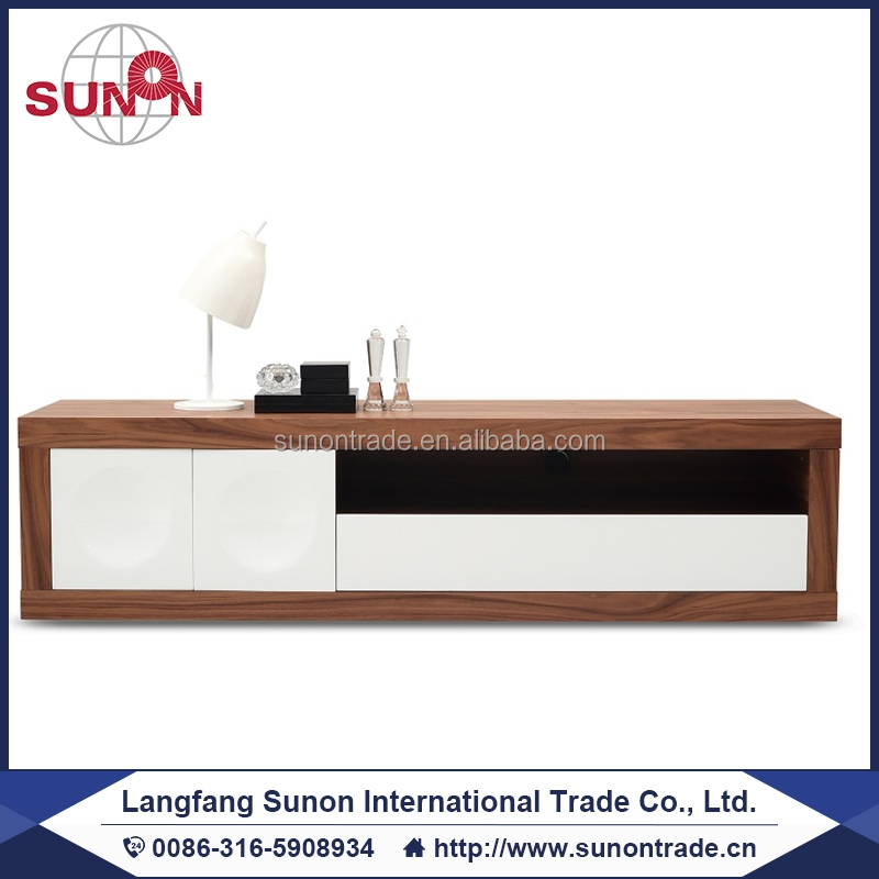 2016 new design modern MDF wooden lcd TV Unit in high gloosy-2