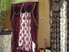 New European Style Chenille window curtain with valance designs