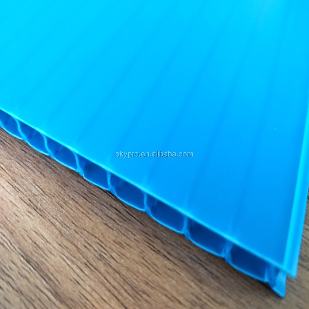 Blue PP fluted board