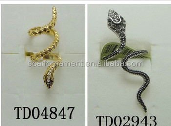 Top Design Snake Stretch Open Alloy Jewelry Gold/antique Silver ...