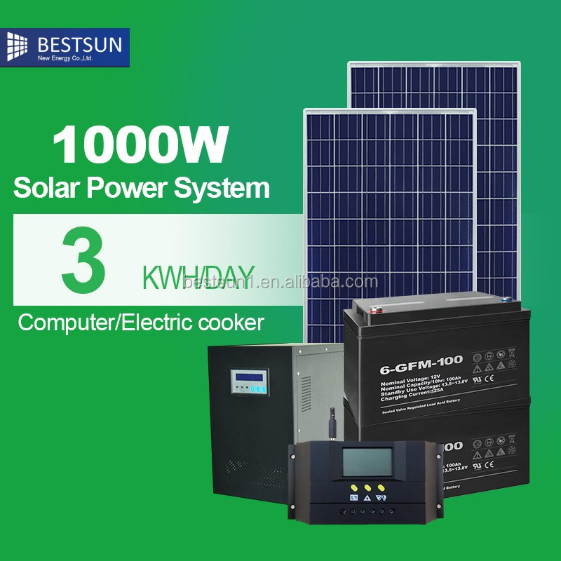 1kw 1000wp Solar Panel System Kit For Home Use(free Electricity For Home) -  Buy Solar Panel System Kit,1000w Solar Panel Kit,Solar Kits For Africa
